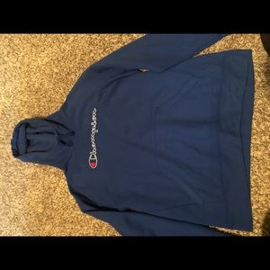 Blue champion sweatshirt